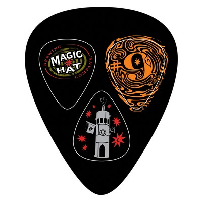 Large Guitar Pick Shaped Card w/3 pop-out Picks