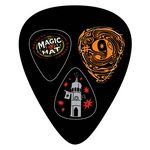 Custom Large Guitar Pick Shaped Card w/3 pop-out Picks
