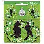 Custom Guitar Pick Card w/Hanger & 6 Pop-out Picks