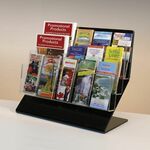 Custom Jumbo Acrylic Literature Holder W/Adjustable Pockets - Countertop