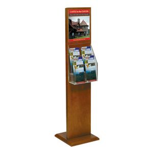 8.5x11 Floor Literature Stand with (2) 4-Pckt Literature Holder