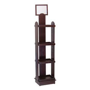 Floor 66h Wine Bottle Display - (4) 16h x 15.875w x 11.875d shelves w/ header*