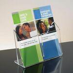 Custom 2-pocket Clear Acrylic Brochure Holder - Countertop