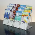 Custom 12-pocket Clear Acrylic Brochure Holder - Countertop