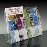 Custom 8-pocket Brochure Holder with Adjustable Pockets