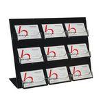 Custom Acrylic Slant-Back Countertop Business Card Holder (9 Pockets)