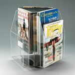 Custom 6-pocket, 3-sided Rotating Magazine Holder - Countertop