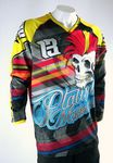 Custom Men's Custom Sublimated Long Sleeve Raglan MX Pro Jersey