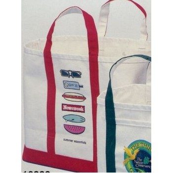Jumbo Natural Canvas Ice & Coal Bags (16
