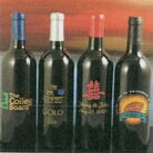 Custom NV Merlot Nanthanson Creek Bottle of Wine (Deep Etched)