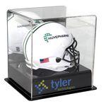 Custom UVPix Printed Acrylic Black Base Mini Helmet Display Case