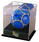 Custom UVPix Printed Acrylic Black Base Mini Soccerball Display Case