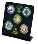 Custom UVPix challenge coin stand for 1 3-4