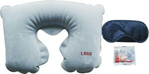 Travel three treasures of inflatable neck pillow, eye mask, ear plug