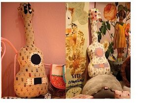 Guitar shaped pillow