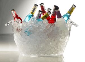 Round Acrylic Ice Bucket