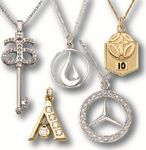 Custom Gold or Silver Plated Brass Necklaces/Pendants