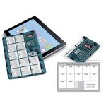 Custom Calendar Cloth On Opper Fiber In Vinyl Pouch
