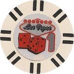 Custom Closeout 9 gram 16 stripe Las Vegas White Poker Chips