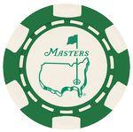 Custom 6 Stripe Custom Ball Marker Poker Chip - Foil Heat Stamped