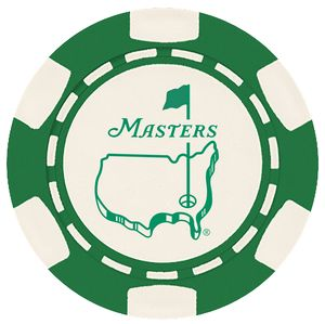 6 Stripe Custom Ball Marker Poker Chip - Foil Heat Stamped