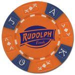 Custom 11.5 gram Tri Color Ace-King Poker Chip (hot stamped with foil)