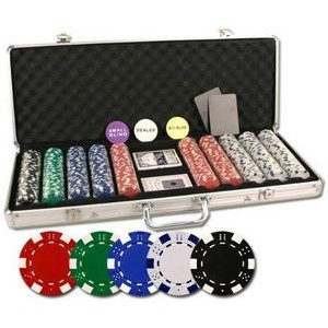 500 Dice design 11.5 gram poker chip set with aluminum case