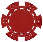 Custom 11.5 gram ABS Dice Striped Poker Chips - Blank