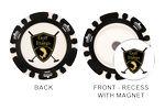 Custom Magnetic Custom Poker Chip with custom removable Golf Ball Marker - Direct Print