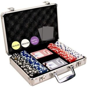 200 Dice design 11.5 gram poker chip set with aluminum case