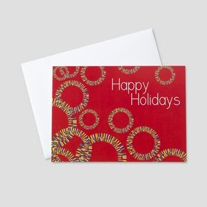 Circle of Merriment Holiday Greeting Card