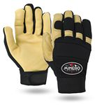 Custom Premium Cowhide Leather Mechanics Gloves