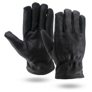 Winter Lined Cowhide Leather Gloves