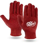 Custom Red Knit Freezer Gloves