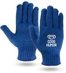 Custom Royal Blue Knit Freezer Gloves