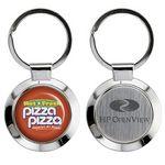 Custom Round Silver Metal Keychain