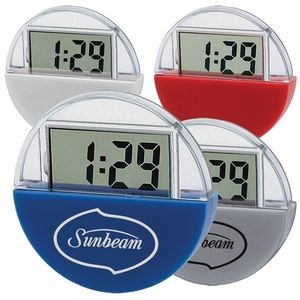 Suction Cup LCD Clock & Calculator