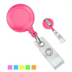 Neon Opaque Plastic Badge Reel