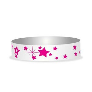 "Preprinted 3/4"" Stars Tyvek Bands"