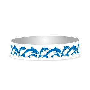 "Preprinted 3/4"" Dolphins Tyvek Bands"