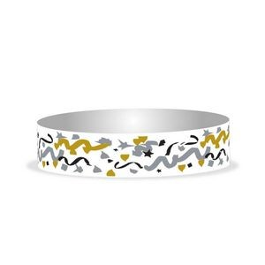 "Preprinted 3/4"" Confetti Tyvek Bands"