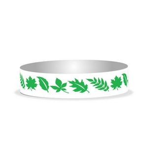 "Preprinted 3/4"" Leaves Tyvek Bands"