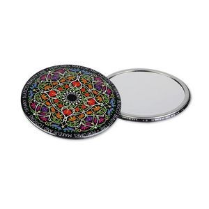 "3.5"" Circle Celluloid Pocket Mirror Button"