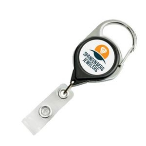 Carabiner Badge Reel with Strap and Clip