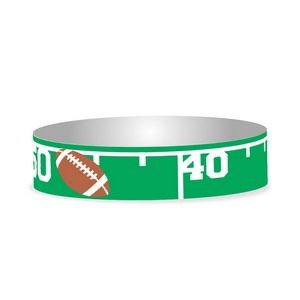 "Preprinted 3/4"" Football Tyvek Bands"