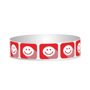 "Preprinted 3/4"" Happy Face Tyvek Bands"