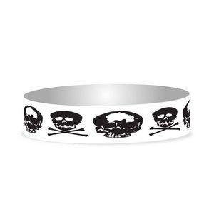 "Preprinted 3/4"" Skulls Tyvek Bands"
