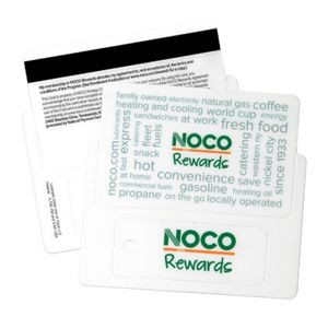 Plastic Card with Key Tag and Magstripe