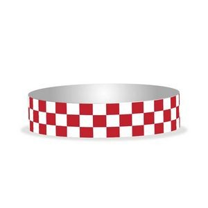 "Preprinted 3/4"" Checkerboard Tyvek Bands"