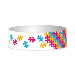 "Preprinted 1"" Puzzle Tyvek Bands"